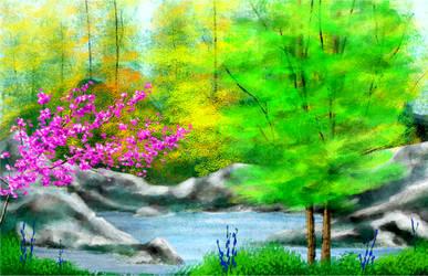 Speedpaint lake-forest (gift for a family member)