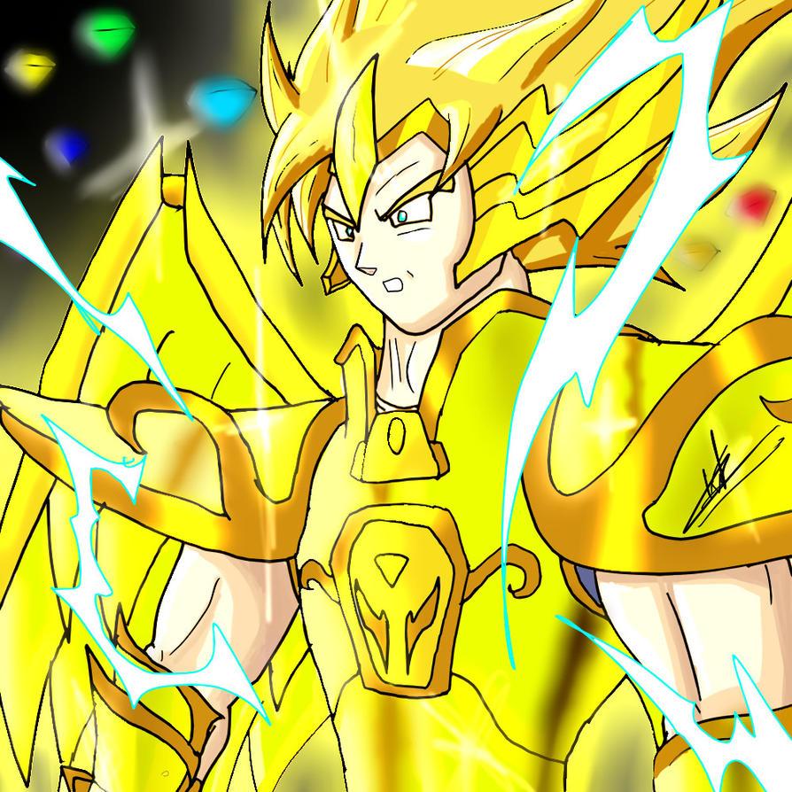 Omnipotent Goku - Sagitarius, Chaos Emerald, Hadou by kaiserkleylson