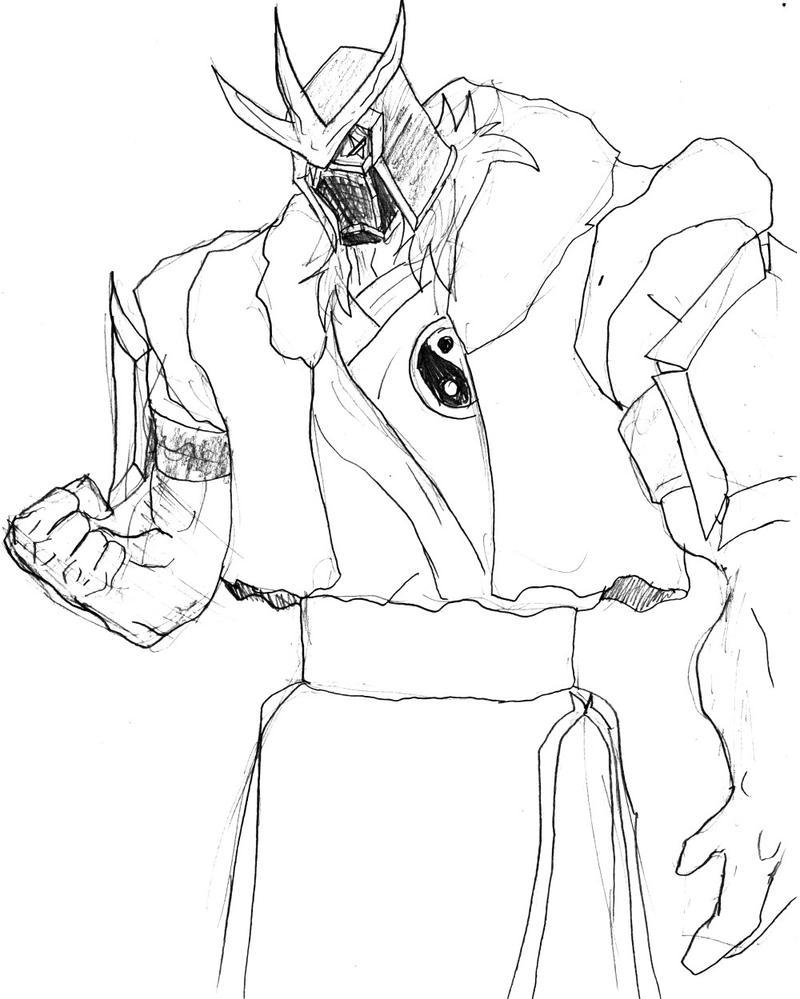 mortal kombat manga sketch