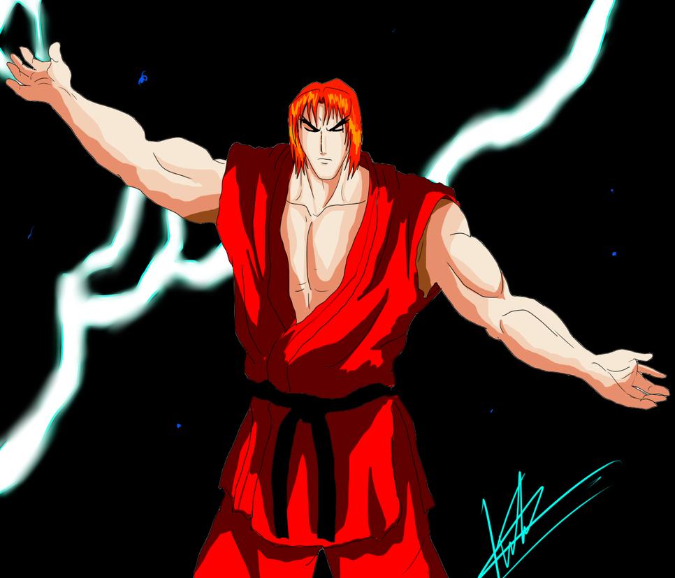 Street Fighter II Victory - Ken Hadouken by kaiserkleylson