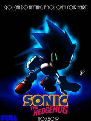 Fixed Sonic The Hedgehog MOVIE teaser poster by kaiserkleylson
