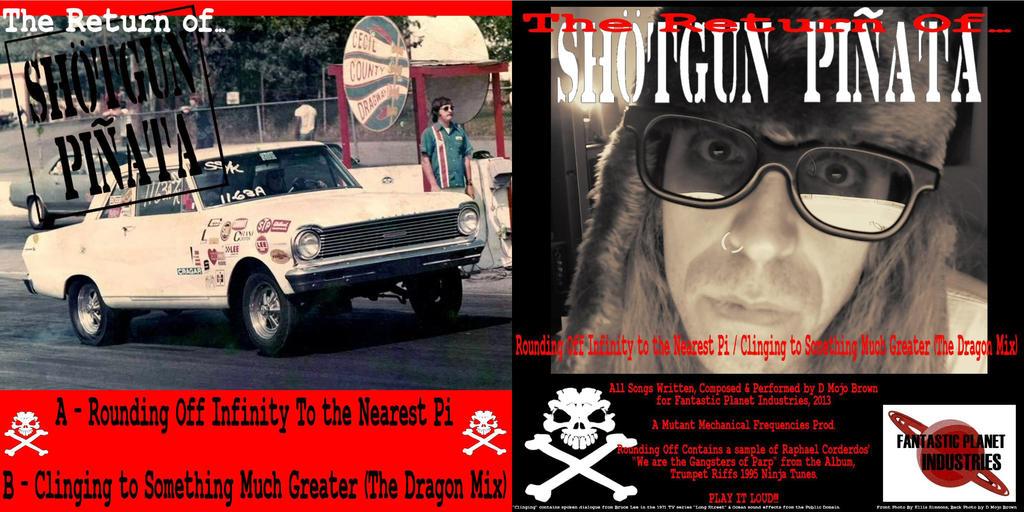 Return of Shotgun Pinata front and back cover by MojoBrown