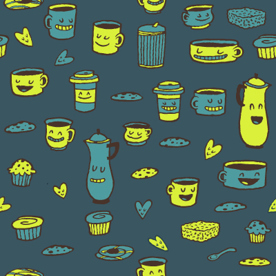 Coffee Pattern by reed682