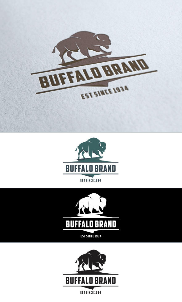 Buffalo Brand Logo by usmanrafi786