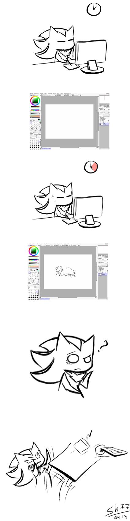 How I draw by Shadow77-Demon