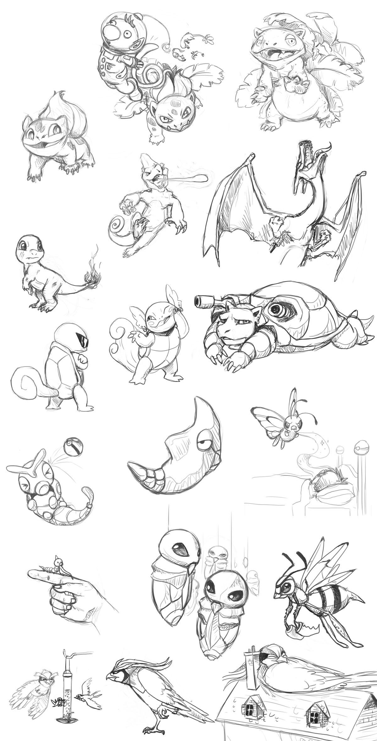Pokemon 001 - 018 by stuffed