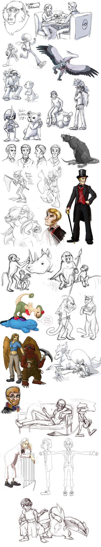 Sketch Dump Oct 23 2011 by stuffed