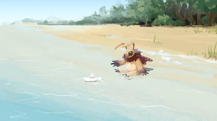 Beach by stuffed