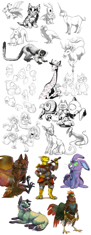 Sketchdump 07/18 by stuffed