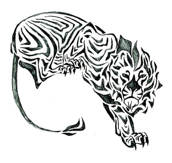 Tribal Lion Drawing Tumblr