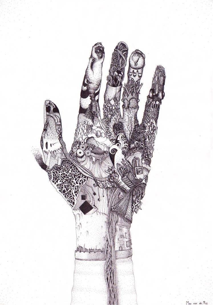 Abstract Hand by arttotheMAX