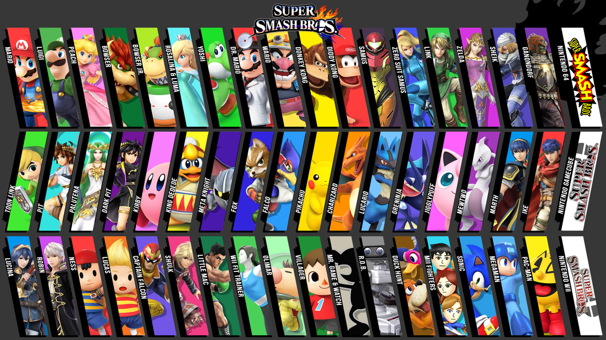 Super Smash Bros For Wii U 3DS 1080p Wallpaper By