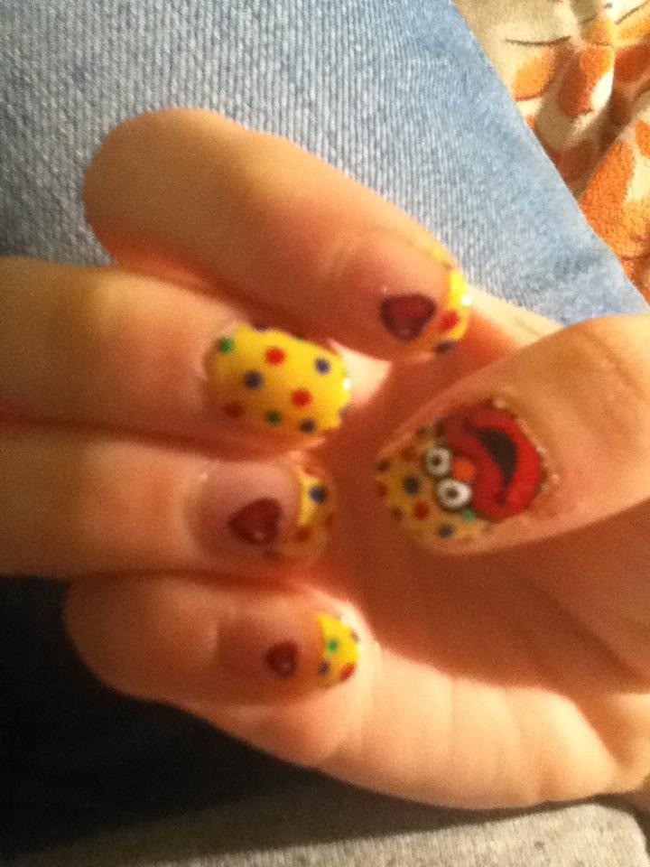 Elmo Nails O By Kekstante On Deviantart