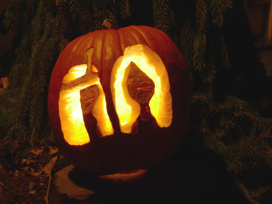 Adventure Time Pumpkin Carving by morphmaker