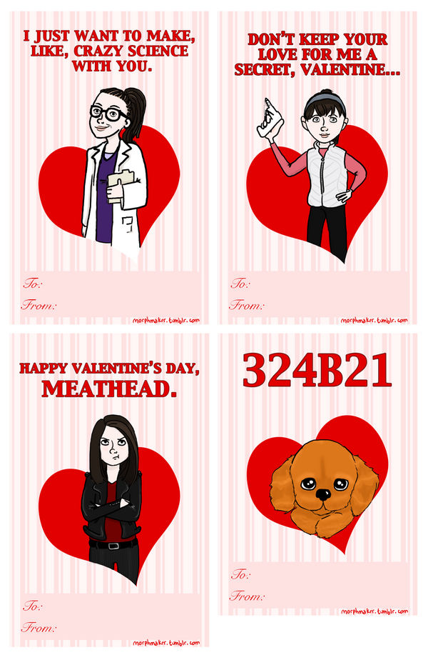 Orphan Black Valentine's Day Cards