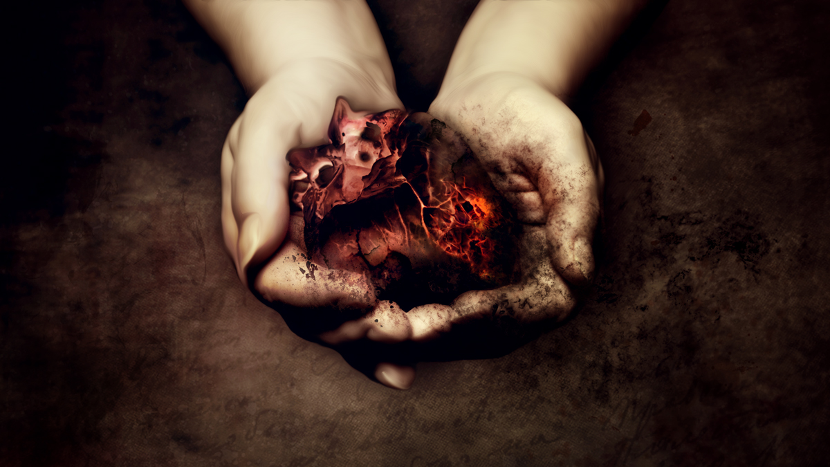 Ash heart by blumilein