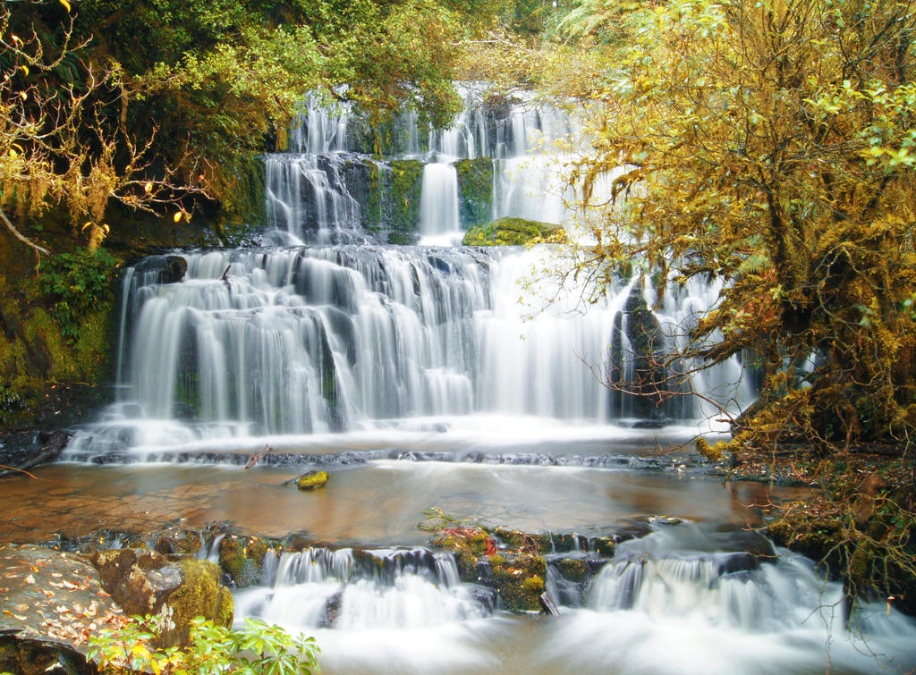 Fall waterfall by Lucie-Lilly