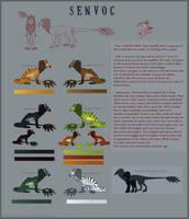 Species Sheet: Senvoc [Open Species] by AcidNeku