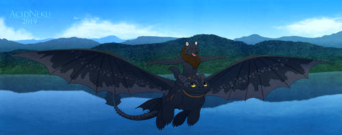 [Com.] High Up in the Sky by AcidNeku