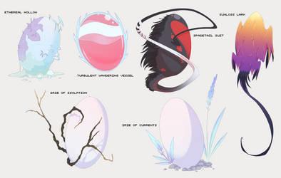 Headworld Mystery Eggs [CLOSED] by Feravyre