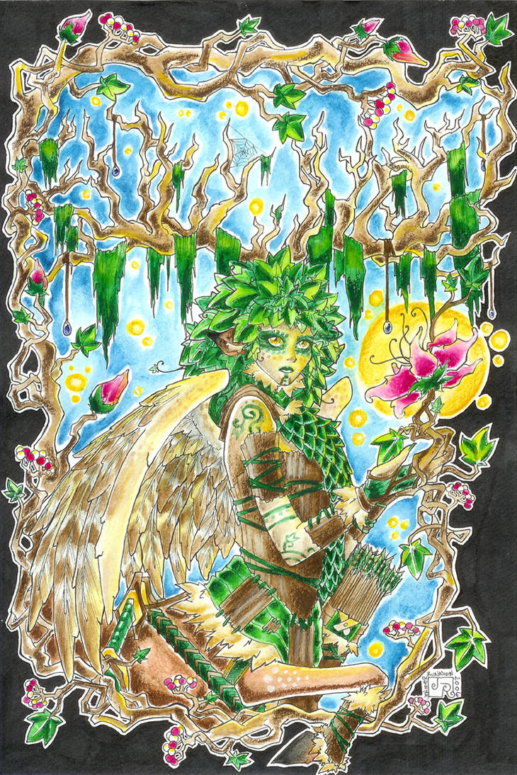 De'eranthial-Lady of the Wood by BlackRamm