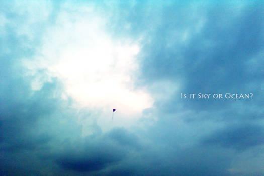 Is it sky or ocean?