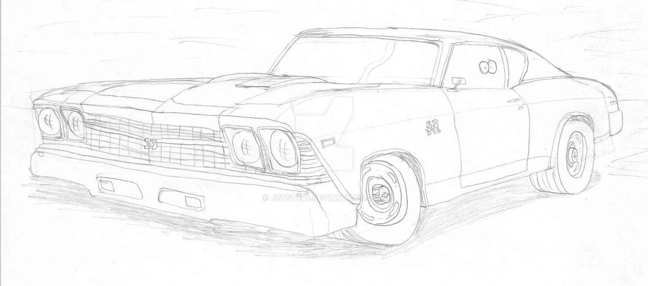 69 chevy chevelle toon sketch by jetster1 on deviantart