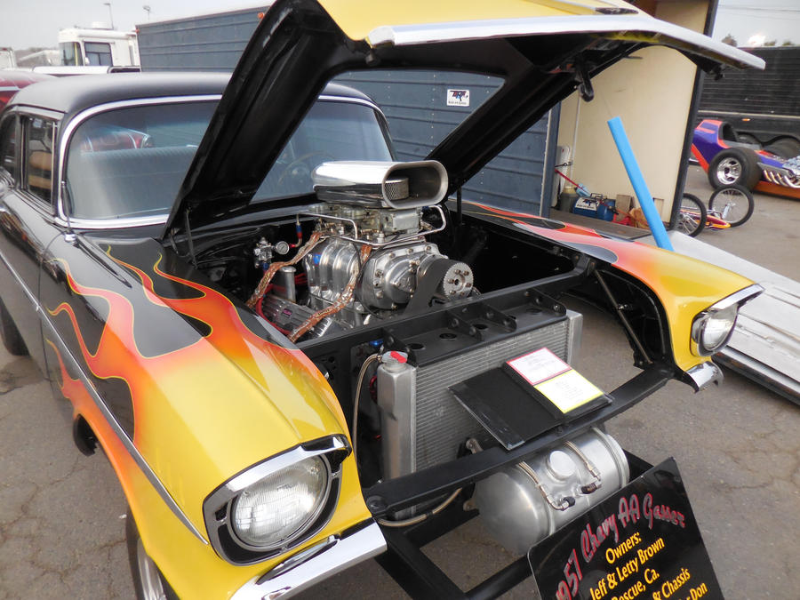 Hemi Powered Flamed 57 Chevy Gasser By Jetster1 On Deviantart
