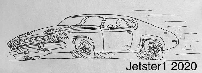 1974 Plymouth Roadrunner Toon