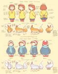 Amber and Spirit Model Sheet: Autumn + Winter