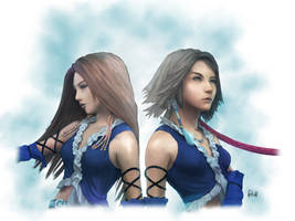 FFX-2 Yuna and Lenne by AmberDust