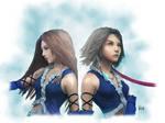 FFX-2 Yuna and Lenne by AmberDust