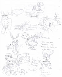 Rayman 5: Rabbids' Revenge (Concept Art) by ClaireAimee