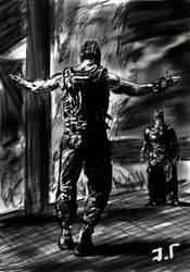 Bane vs. Batman by Jaimus