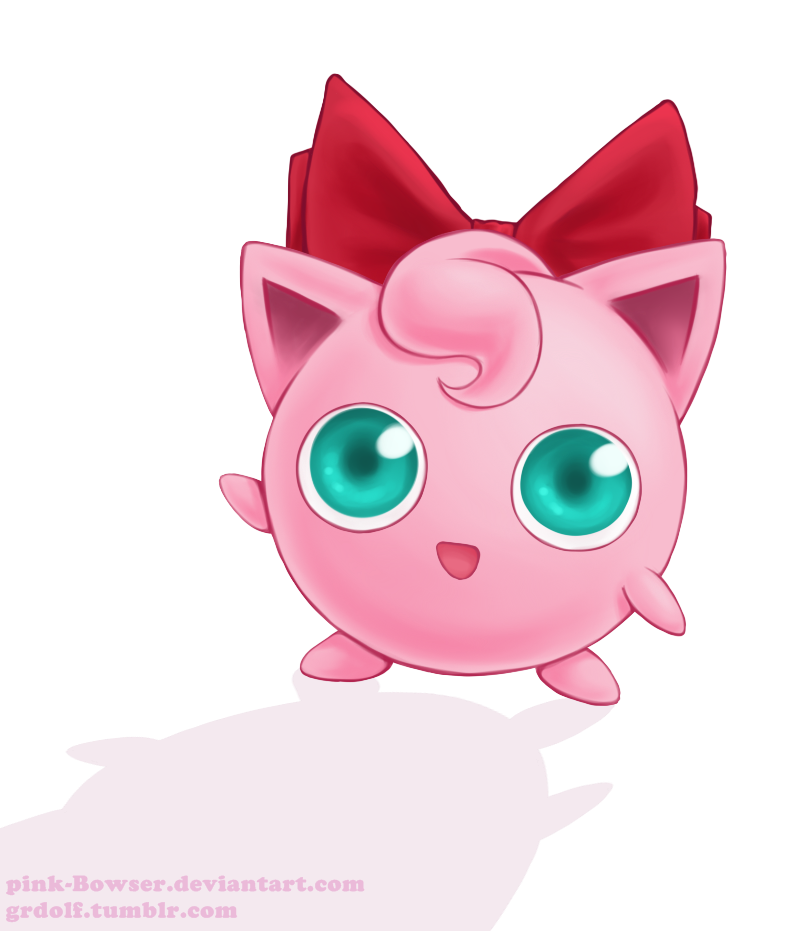 Jigglypuff's bow by pink-Bowser