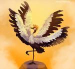 Majestic: Four winged crane.
