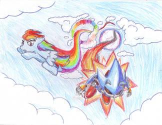 Rainbow Dash vs Metal Sonic by SRB2-Blade