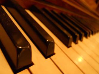 Piano Keys, stock image by jeuxsansfrontieres