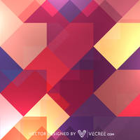 Colorful Retro Pattern Free Vector by vecree