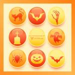 Halloween Button Collection Free Vector