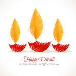 Diwali Celebration Design Free Vector