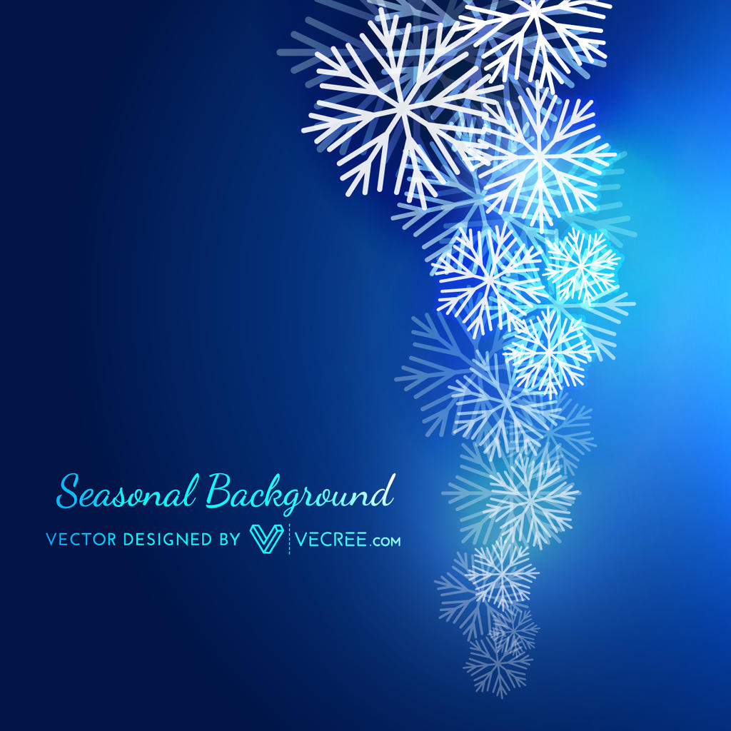 Snowflakes background free vector by vecree on deviantart