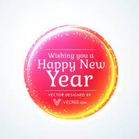 Colorful Happy New Year Card Free Vector by vecree