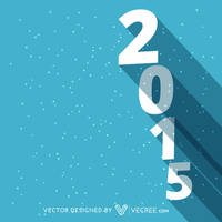 Happy New Year 2015 Design Free Vector by vecree