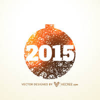 2015 Happy New Year Card Free Vector by vecree