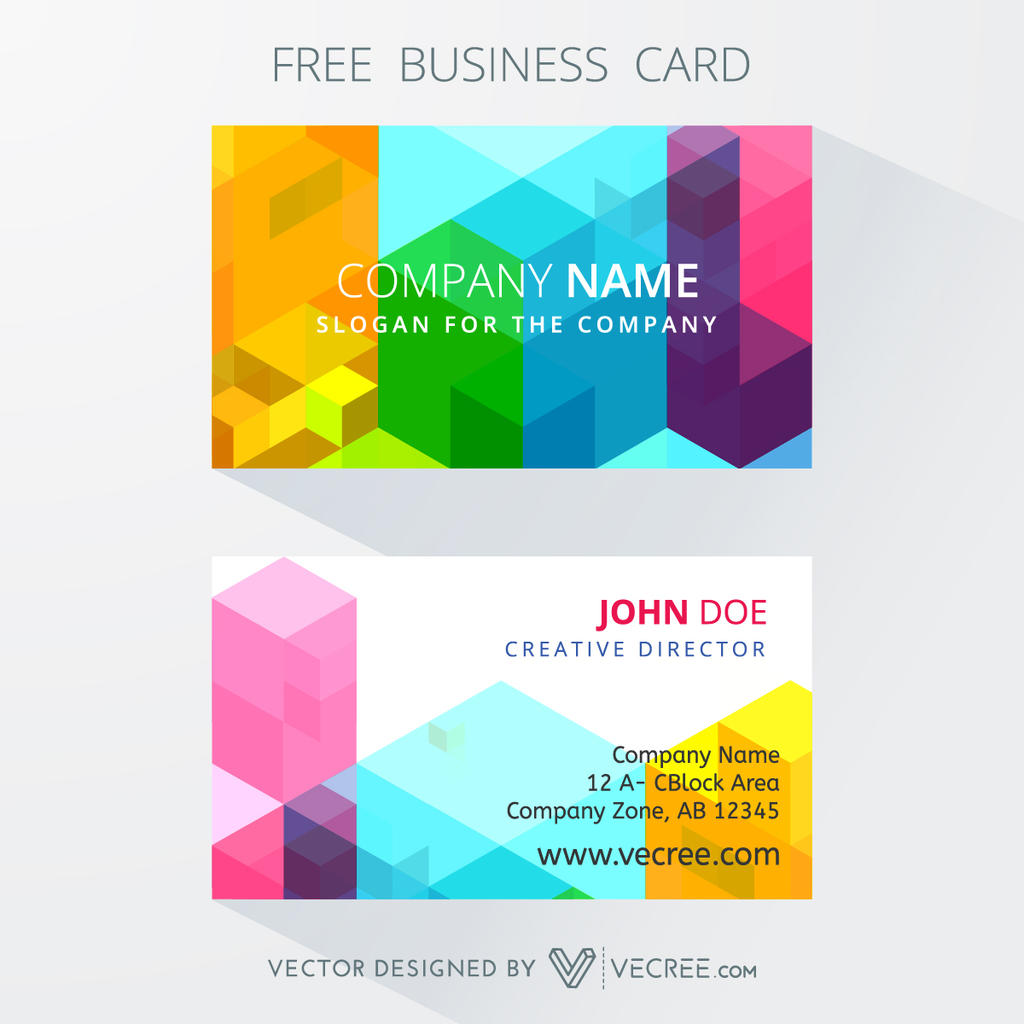 Artistic Business Card Free Vector