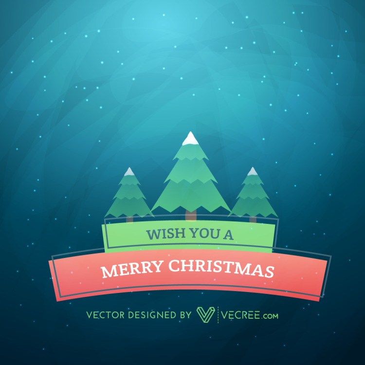 Christmas Holiday Greeting Card Free Vector by vecree on ...