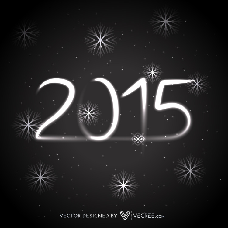 Shiny 2015 In Dark Background Free Vector by vecree