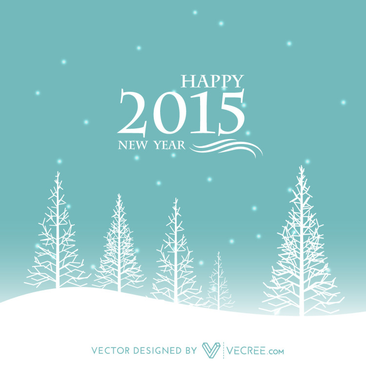 Winter Happy New Year Creative Design Free Vector by ...