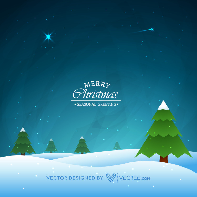 Night Scene Of Winter Christmas Free Vector by vecree on DeviantArt